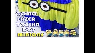 getlinkyoutube.com-COMO FAZER TOALHA DOS MINIONS #EspecialMilInscritos #3