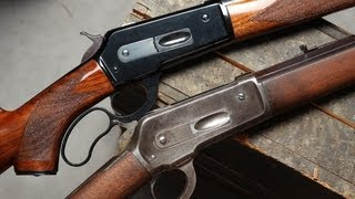 getlinkyoutube.com-Original Winchester 1886 and Pedersoli 1886/71 lever action comparison