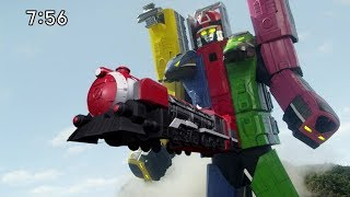 The Ressha Sentai ToQger Opening but every time they say