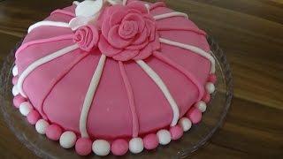 getlinkyoutube.com-pasta süsleme - şeker hamuruyla pasta süslemesi - Mutlu Tatlar