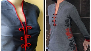 getlinkyoutube.com-STAND COLLAR - TWO PATTERNS - NO SEPARATE COLLAR JOINING - EASY PATTERN FOR BEGINNERS
