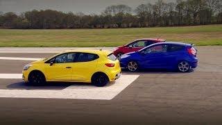 getlinkyoutube.com-Peugeot 208 GTi vs Renault Clio 200 Vs Ford Fiesta ST - Top Gear - Series 20 - BBC