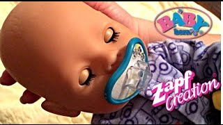 getlinkyoutube.com-Zapf Creations Baby Born Boy Doll Morning Routine with Feeding, changing,  and Potty Training
