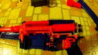 getlinkyoutube.com-Nerf Deathdealer 2.0 (Elite Alpha Trooper Mod Kit from OMW)