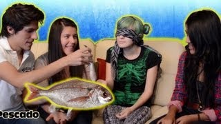 getlinkyoutube.com-Tocando cosas sin mirar | Reto con Miranda Ibañez | Blindfold touching challenge