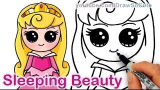 getlinkyoutube.com-How to Draw Disney Sleeping Beauty Aurora Cute step by step