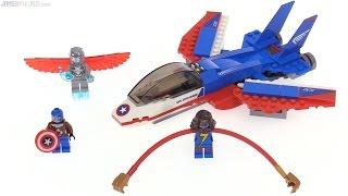 getlinkyoutube.com-LEGO Marvel Captain America Jet Pursuit review! 76076