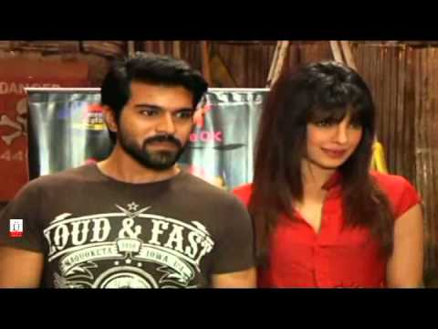 Ramcharan Teja And Priyanka Chopra Promote Zanjeer