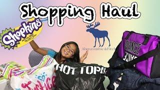 getlinkyoutube.com-Big Shopping Haul Shopkins Abercombie Justice Hot Topic Star Wars Blind Bags