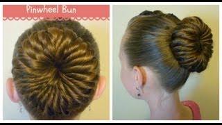 getlinkyoutube.com-Pinwheel Bun Hairstyle, Unique Ballerina Bun