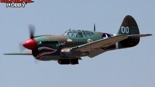 Super P-40E Warhawk Flight Review in HD! Huge 79'' Wingspan Warbird