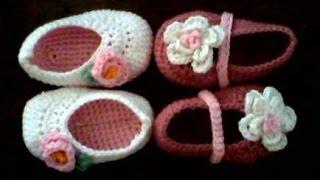getlinkyoutube.com-tutorial zapatitos de crochet para bebe paso a paso