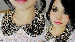 getlinkyoutube.com-DIY collar cuellito y maquillaje 2 en 1 ♥ con Miku :3