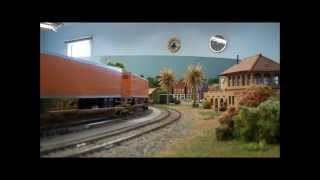 getlinkyoutube.com-BNSF on UP track rights at Carquinez Model Railroad Society