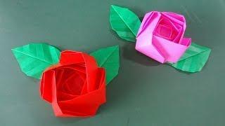 "getlinkyoutube.com-「バラ」折り紙""Rose""Origami"