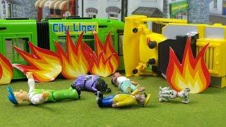 getlinkyoutube.com-🚒 Feuerwehrmann Fireman Sam puts out Tram and Bulldozer Fire - Best New Rescue Episode 201