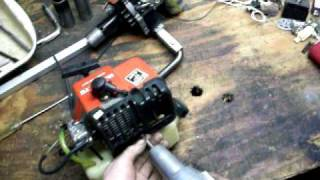 how to build an easy weed wacker bike part 1
