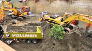 getlinkyoutube.com-RC Baustellenfahrzeuge RC-LKW  RC-Trucks RC-Bagger RC-Trecker