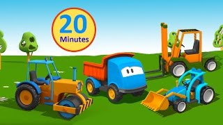 getlinkyoutube.com-Compilation Cartoni Animati per bambini: Leo il Camion Curioso gioca con le ruspe