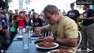 getlinkyoutube.com-World Record Most Pulled Pork Eaten in 6 Minutes (7+lbs) (Must See!!!)