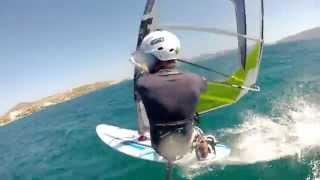 getlinkyoutube.com-Windsurfing harness mount gopro hero2 and crash!!!