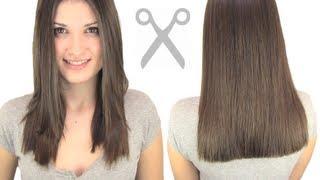 getlinkyoutube.com-how to cut hair straight