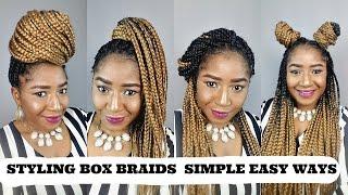 getlinkyoutube.com-STYLING BOX BRAIDS 7 SIMPLE WAYS