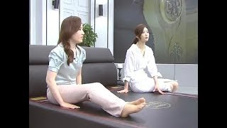 Sexy sales girls tiptoe, smooth legs, stocking and feet