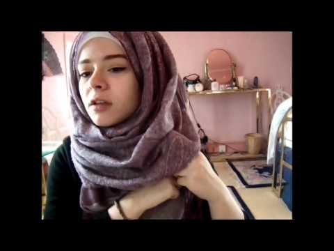 Hijab tutorial - messy foldy hijab