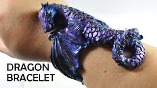 getlinkyoutube.com-Dragon Cuff Bracelet - polymer clay TUTORIAL