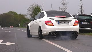 getlinkyoutube.com-600HP Wimmer Performance Mercedes-Benz C63 AMG Coupe - BURNOUT!