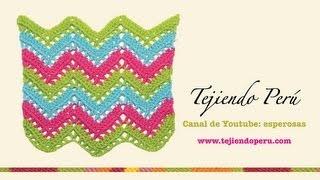 getlinkyoutube.com-Punto zig zag calado en crochet