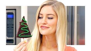 getlinkyoutube.com-🎄 How to make Christmas Tree Brownies!