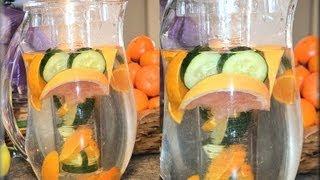 getlinkyoutube.com-Dr. Oz Weight Loss Water, Fat Flush Water