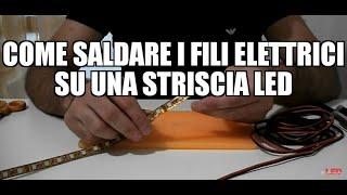 getlinkyoutube.com-Come saldare i fili elettrici su una striscia led