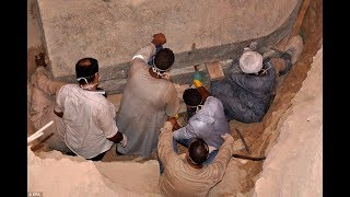 Archaeologists OPEN mystery 9 foot black sarcophagus in Egypt, despite repeated warnings of a CURSE