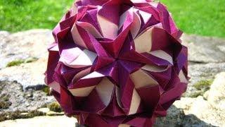 getlinkyoutube.com-Origami ჱܓ Royal Rose ჱܓ Kusudama