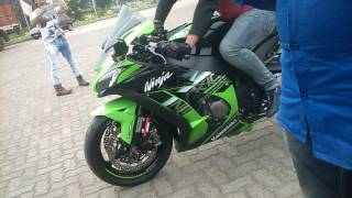 getlinkyoutube.com-KAWASAKI ZX10R 2016 WINTER EDITION WITH SC PROJECT EXHAUST AT AZAD HIND DHABA