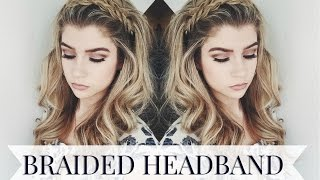 getlinkyoutube.com-Braided Headband Hairstyle