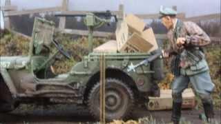 getlinkyoutube.com-Battle of the Bulge 1/35 scale diorama, Willy's Jeep