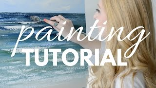PAINTING TUTORIAL with Acrylic for Beginners | Katie Jobling Art