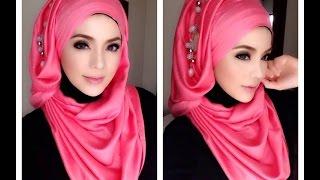 getlinkyoutube.com-🌟Hijab Tutorial-03🌟 Cara Memakai Jilbab Pashmina Style Pink Accecories (Up to date)