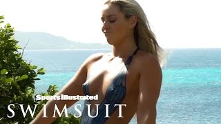getlinkyoutube.com-Lindsey Vonn's Sexy Body Paint | Outtakes | Sports Illustrated Swimsuit