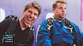 Tom Cruise Forces James Corden to Skydive
