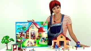 getlinkyoutube.com-Конструктор Playmobil Toys. Строим ветклинику. Набор для сюжетно-ролевых игр. распаковка