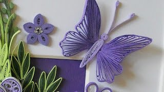 getlinkyoutube.com-Butterfly Quilling Tutorial