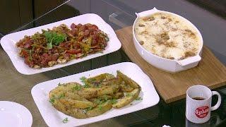 سوسيس بيكين - جراتان بطاطا - بطاطس ودجز   اميرة في المطبخ حلقة كاملة
