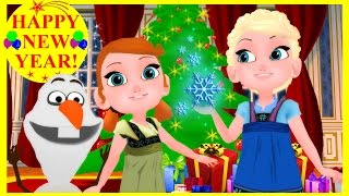 getlinkyoutube.com-FROZEN JUNIOR ▌CHRISTMAS SONG - Deck The Halls! ♫♪♬ ▌Young Elsa & Anna ▌(Animation Series)