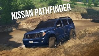 getlinkyoutube.com-NISSAN PATHFINDER 4x4 OFF-ROAD CHALLENGE! Trails, Mudding, & Hill Climbing! (SpinTires)