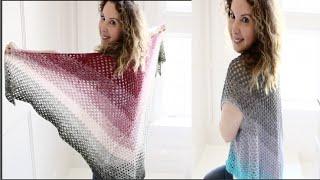 getlinkyoutube.com-Easy Crochet Boho Shawl/Vest Tutorial